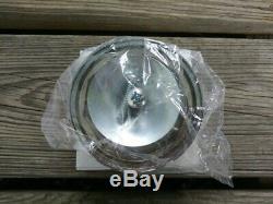 (1) NEW Cragar Star Wire Wheels 30 Spoke Center Cap Tru True WHITE Crager Tru=