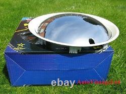 12 Wheel Trims Baby Moon CHROME-WHITE Hub Caps Full Covers Hubcaps SET OF 4