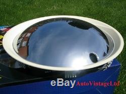 13 Wheel Trims Baby Moon CHROME-WHITE Hub Caps Full Covers Hubcaps SET OF 4