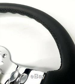 14 Chrome 3 Spoke Steering Wheel, Classic White V8 Horn, 1969-1994 Chevy Cars