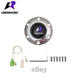 14 Ivory White Wood Grain Steering Wheel 6 Bolt 3 Dish Chrome Spoke + Horn