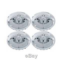 15 Chrome White Checkerboard Style Spider Wheel Cover Set, 4 Pieces 66-94207-1