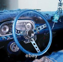 15 Mooneyes 3-Spoke Steering Wheel White Finger Grip GS290FGWH w Horn Boss Kit