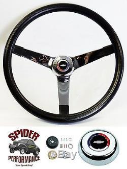 1953-1954 BEL AIR 150 210 steering wheel Red White Blue Bowtie 14 3/4 Vintage
