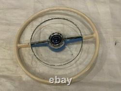 1953 1954 Chevrolet Bel Air 150 210 Steering Wheel Chrome Horn Ring
