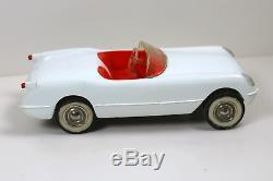 1955 Corvette Promo White withred interior, chrome plated wheels, white walls