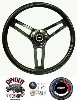 1957 BEL AIR 210 150 steering wheel Red White Blue Bowtie 14 1/2 Shallow Dish