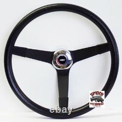 1957 Bel Air 150 210 steering wheel Red White Blue Bowtie 14 3/4 Vintage Black