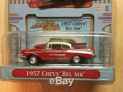 1957 CHEVY BEL AIR by MOTOR MAX red/white CHROME WHEELS sealed