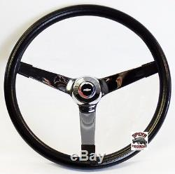 1960-69 Chevy pickup steering wheel Red White Blue Bowtie 14 3/4 Vintage Chrome