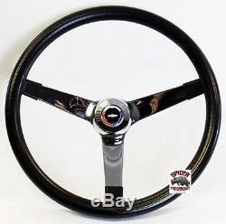 1962-63 Nova Chevy 2 steering wheel Red White Blue Bowtie 14 3/4 Vintage Chrome