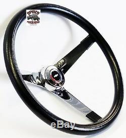 1964-66 Nova Chevy 2 steering wheel Red White Blue Bowtie 14 3/4 Vintage Chrome