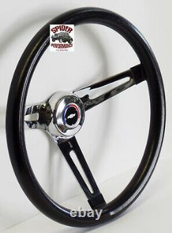 1967 Camaro steering wheel red white blue BOWTIE 13 1/2 MUSCLE CAR CHROME