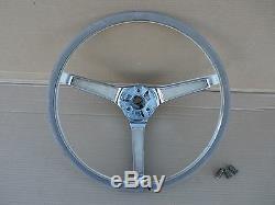 1967 Cougar Steering Wheel 3-spoke Oem Mercury Interior Chrome Trim Xr7 289 390