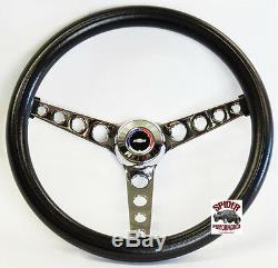 1969-1973 Chevelle steering wheel Red White Blue Bowtie 14 1/2 Classic Chrome