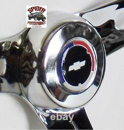 1969-1994 Camaro steering wheel Red White Blue Bowtie 13 1/2 MUSCLE CAR CHROME