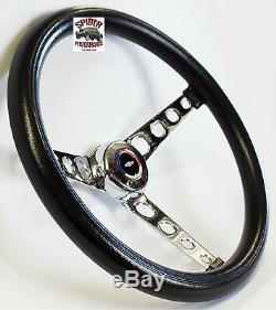 1970-88 Monte Carlo steering wheel Red White Blue Bowtie 14 1/2 Classic Chrome