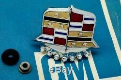 1970 Cadillac Hood Crest Emblem Deville Calais Near Perfect 1 Year Only 70 Trim