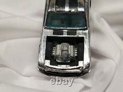 1970 HTF Redline Hot Wheels Boss Hoss Ford Mustang Club Car Chrome wht/interior