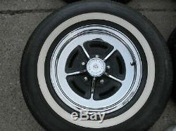 1973 Buick Electra 225 Factory Chrome Rally Wheels & Classic White Wall Tires 4