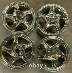 1997 2000 Dodge Avenger Wheels / Rims 17 Inch 5X114.3 Hollander # 2080 Chrome