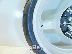 1999-2007 Suzuki GSX1300R Hayabusa Busa White Rear Wheel Rim with Tire