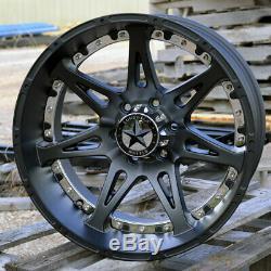 20 Matte Black Lonestar Warrior Wheels 20x10 6x135 -25 Ford F150 Chrome & White