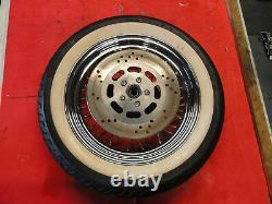 2006 HARLEY-DAVIDSON SOFTAIL FLST FRONT WHEEL RIM with White wall Tire