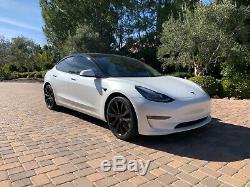 2018 Tesla Model 3 Performance AWD Chrome Delete Black Wheels Black Badges