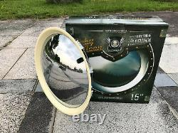 2085CW 15 Baby Moon hubcap Wheel Cover Chrome-White Wall