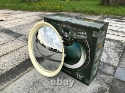 2085CW 15Inches Baby Moon Wheel Cover Chrome with White Wall