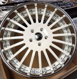 22 Forgiato Andata White Chrome Staggered 3-piece Wheels 5x130 Porsche Panamera