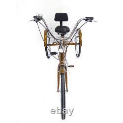 24 Adult Tricycle Trike Bike 3 Wheel Shopping Bike 6 speed with Backrest & Basket