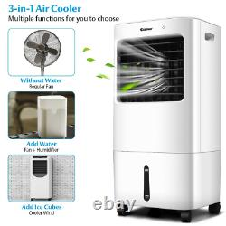 3-in-1 Evaporative Portable Air Cooler Fan Flexible Wheels With Remote Control NEW