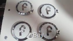 4 Caps Forgiato Chrome & white wheels Center caps Part # 238K70 Look at pictures