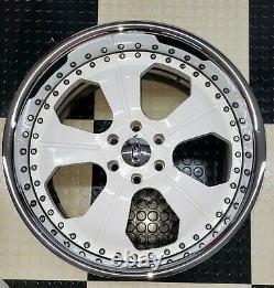(4) Four Asanti AF127 22x10 6x135 Wheels With 4 Inch Chrome Lip
