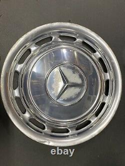 4 Mercedes Vintage 14 Inch Wheel Cover Hub Caps Hubcap White 1970s 1980s