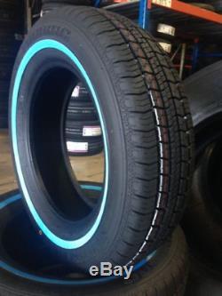 4 New Wire Wheels 13x7 100 Spoke Chrome 4 155-80r13 Suretrac White Wall Tires