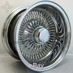 4 New Wire Wheels 14x7 100 Spoke Chrome 4 175-75r14 Suretrac White Wall Tires