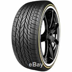 4 New Wire Wheels 15x7 100 Spoke Chrome 4 235-70r15 Vogue Tires Gold White