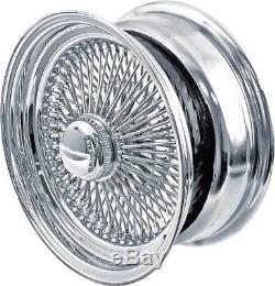 4 New Wire Wheels 18x8 100 Spoke Chrome 4 235-50r18 Vogue Tires Gold White