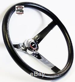 55-56 BEL AIR 150 210 steering wheel Red White Blue Bowtie 14 3/4 Vintage Chrome