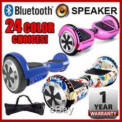 6.5 Bluetooth Speaker LED 2-Wheel Self Balancing Scooter UL2272 Chrome Graffiti