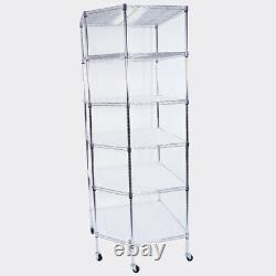 6-Layer Chrome Plated Polygonal Corner Shelf 2 PP Wheels 6806801800 Silver