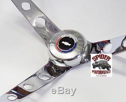 64-65 Chevelle Malibu EL Camino steering wheel RED WHITE BLUE BOWTIE 15 WALNUT
