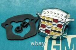 71 78 Cadillac Trunk Lock Cover Emblem Flip LID Crest Deck Slider Oem Gm Trim