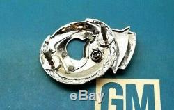 76 79 Cadillac Seville Trunk Lock Cover Crest Emblem Flip LID Wreath Gm Trim