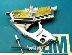 77 90 Chevy Caprice Classic Trunk Lock Cover Emblem Flip Deck LID Gm Trim