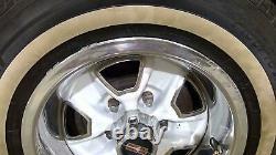78-88 Oldsmobile Cutlass 14x6 OEM Wheel/Rim Assembly (Steel) White with Chrome