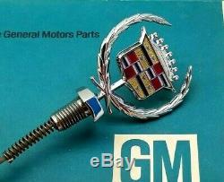 80 92 Cadillac Fleetwood Brougham Header Panel Ornament Hood Emblem Gm Oem Nos